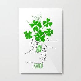 A Bouquet of Good Luck for You Metal Print