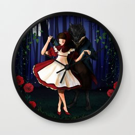 A Dangerous Dance, Red Hood And The Wolf Wall Clock