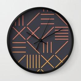 Geometric Shapes 09 Gradient Wall Clock