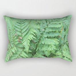 Ferns in Michigan Woods Rectangular Pillow