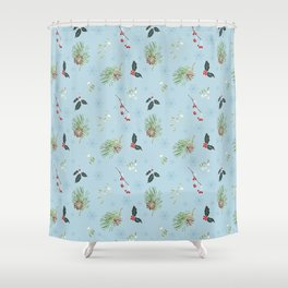 winter plants Shower Curtain