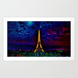 Paris Starry Night by Jeanpaul Ferro Art Print