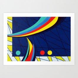 Sails - Paint Art Print