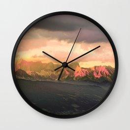 Escaping  -  Mountains - Dachstein, Austria Wall Clock