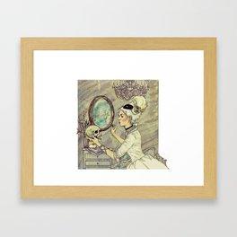 Marie Antoinette Halloween Framed Art Print