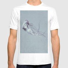 Jellyfish 2 Mens Fitted Tee White MEDIUM