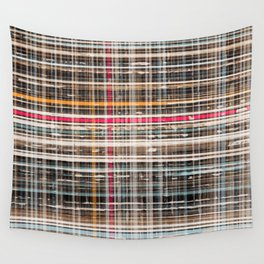 structure with red lines Wall Tapestry