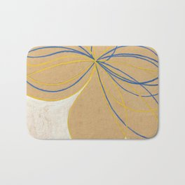 The Seven Pointed Star by Hilma af Klint Bath Mat