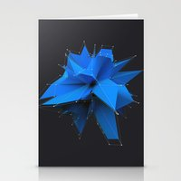 polygon Stationery Cards featuring Blue Polygon by error23