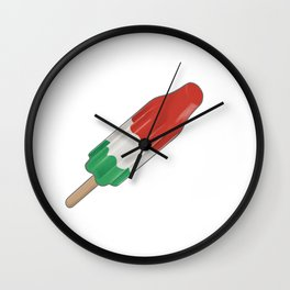 Green White and Red Rocket Popsicle Wall Clock