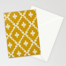 Navajo Diamonds Gold on Ivory Stationery Cards