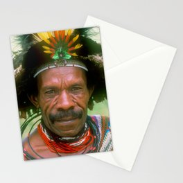 Global Citizen: Villager From Papua New Guinea Sing Sing Stationery Cards