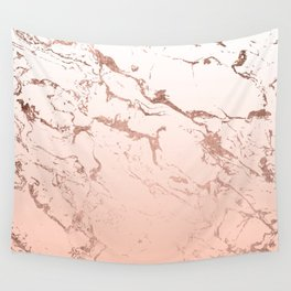 Pink blush white ombre gradient rose gold marble pattern Wall Tapestry