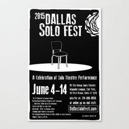Dallas Solo Fest 2015 Poster Canvas Print