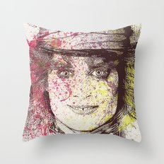 johnny depp (alice in wonderland) Throw Pillow