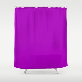 Heliotrope Magenta - solid color Shower Curtain