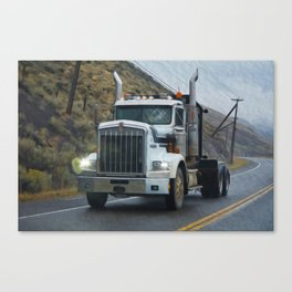 Delivery Done! Truck Art Canvas Print