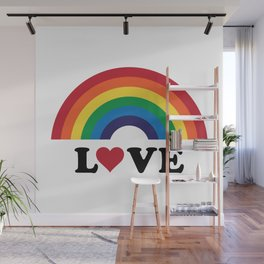 70's Love Rainbow Wall Mural