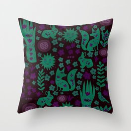 Nightlife Elements Throw Pillow
