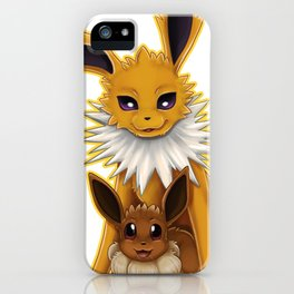 Jolteon and Eevee Pup iPhone Case