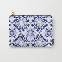 Azulejo V - Portuguese hand painted tiles Carry-All Pouch
