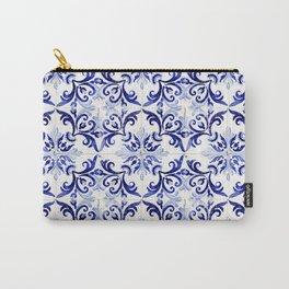 blue tile pattern VI - Azulejos, Portuguese tiles Carry-All Pouch