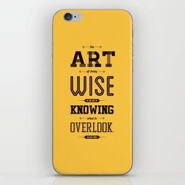 Lab No. 4 The Art Of Being William James Inspirational Quotes iPhone Skin