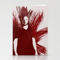 sam winchester Stationery Cards featuring Watercolor Sam Winchester by fairandbright