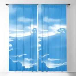 cloudy burning sky reacwb Blackout Curtain