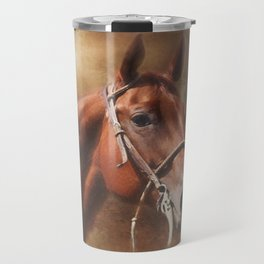 Chestnut Quarter Horse Portrait Travel Mug