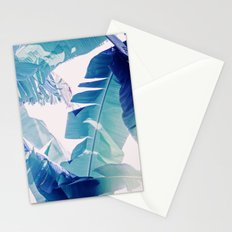Banana Leaf Blue Stationery Cards