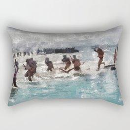 D-Day Landing, WWII Rectangular Pillow
