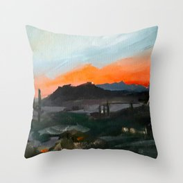 Sunset Over the Superstitions Throw Pillow