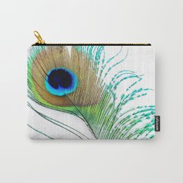 Peacock - Peacock Feather - Peacock Tail Feather Carry-All Pouch