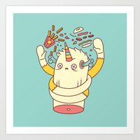 junk food Art Prints featuring junk food kills by failuretalent