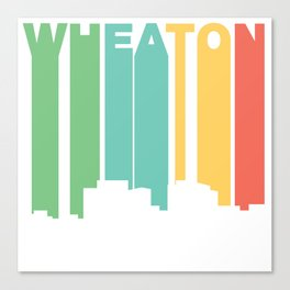 Retro 1970's Style Wheaton Maryland Skyline Canvas Print