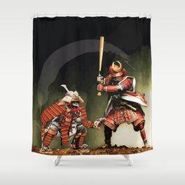 Samurai Warriors Baseball Furies Shower Curtain