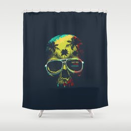 Summer Skull - Say yes to new adventures Shower Curtain