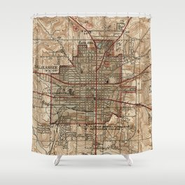 Vintage Map of Tallahassee Florida (1940) Shower Curtain