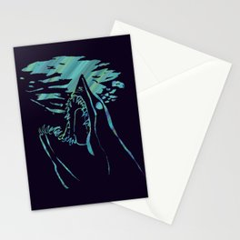 blue mako shark Stationery Cards
