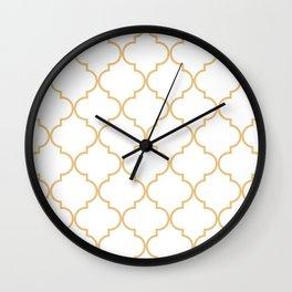 Quatrefoil - Latte Wall Clock