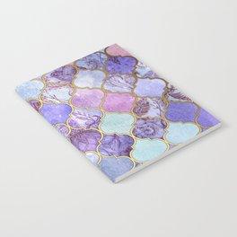 Royal Purple, Mauve & Indigo Decorative Moroccan Tile Pattern Notebook