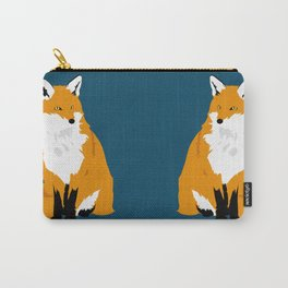 Red Fox (Dark Background) Carry-All Pouch