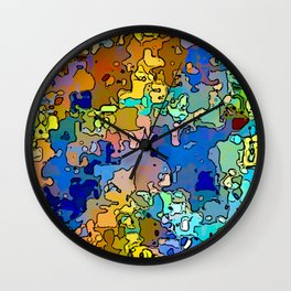 Abstract segmented 4 Wall Clock