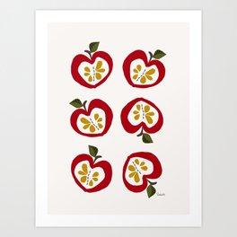 Apple red Art Print