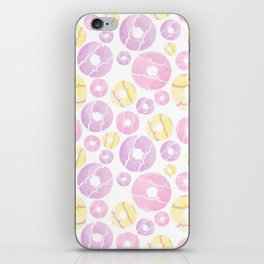 Watercolour Party Ring Biscuit Repeat iPhone Skin