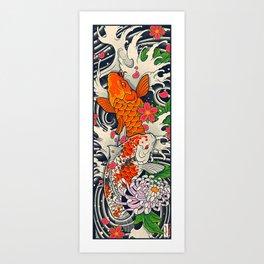 Art of Koi Fish Leggings Art Print