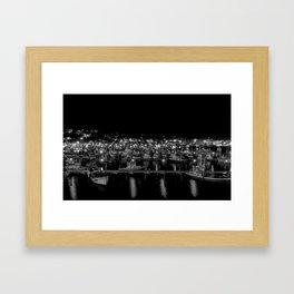 Night at the Marina Framed Art Print