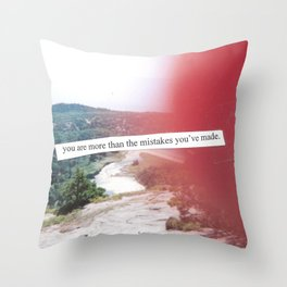 You are more than the mistakes you've made. (collage) Throw Pillow