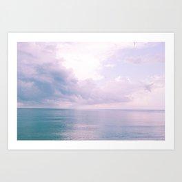 Romantic view Art Print